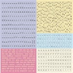 Prima - Meadow Lark Collection - Cardstock Stickers - Alphabet - Typeset
