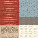 Prima - En Francais Collection - Cardstock Stickers - Alphabet - Typeset