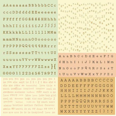 Prima - Songbird Collection - Cardstock Stickers - Alphabet - Typeset
