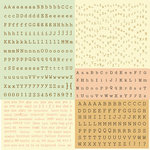 Prima - Songbird Collection - Cardstock Stickers - Alphabet - Typeset