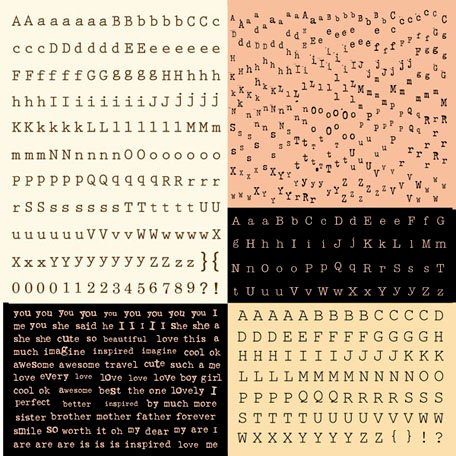 Prima - Almanac Collection - Cardstock Stickers - Alphabet - Typeset