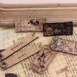 Prima - Nature Garden Collection - Wood Embellishments - Tickets