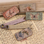 Prima - Fairy Belle Collection - Wood Embellishments - Tickets