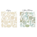 Prima - Fairy Belle Collection - Resist Canvas - Shapes