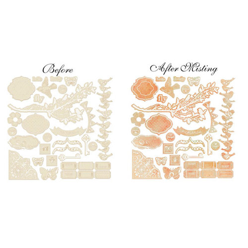 Prima - Songbird Collection - Resist Canvas - Shabby Shapes