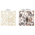 Prima - Almanac Collection - Resist Canvas - Printery Shapes