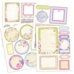 Prima - Meadow Lark Collection - Chipboard Stickers with Glitter Accents