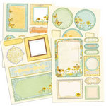 Prima - Sun Kiss Collection - Chipboard Stickers with Glitter Accents