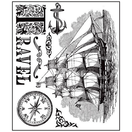 Prima - Almanac Collection - Clear Acrylic Stamps - Mix 2