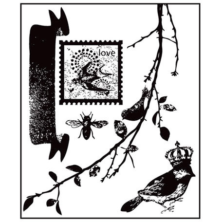 Prima - Songbird Collection - Clear Acrylic Stamps - Mix 1