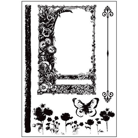 Prima - Sun Kiss Collection - Cling Mounted Rubber Stamps