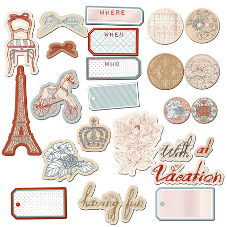 Prima - En Francais Collection - Chipboard Pieces