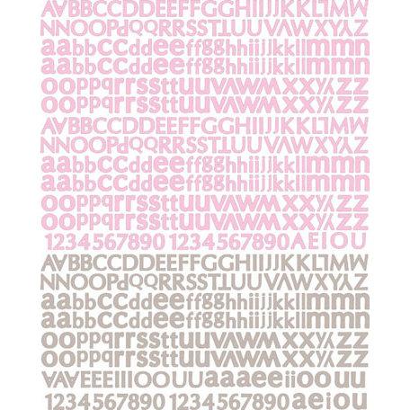 Prima - Meadow Lark Collection - Textured Stickers - Alphabet