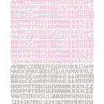 Prima - Meadow Lark Collection - Textured Stickers - Alphabet