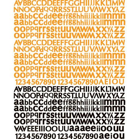 Prima - Doodle-Deux Collection - Textured Stickers - Alphabet