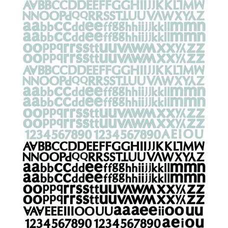 Prima - Nature Garden Collection - Textured Stickers - Alphabet
