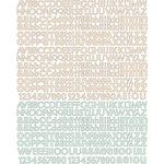 Prima - Songbird Collection - Textured Stickers - Alphabet