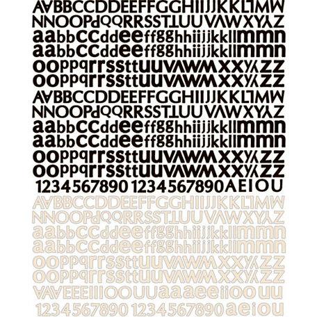Prima - Almanac Collection - Textured Stickers - Alphabet