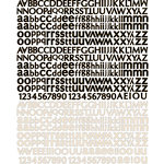 Prima - Almanac Collection - Textured Stickers - Alphabet