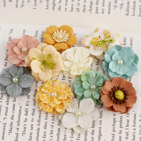 Prima - Perle Bebe Collection - Flower Embellishments - Songbird