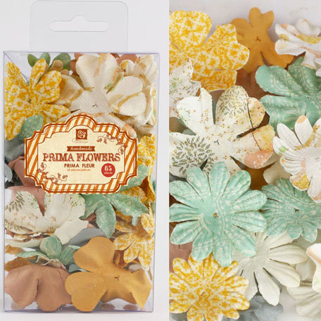 Prima - Essentials Petals Collection - Flower Embellishments - Songbird