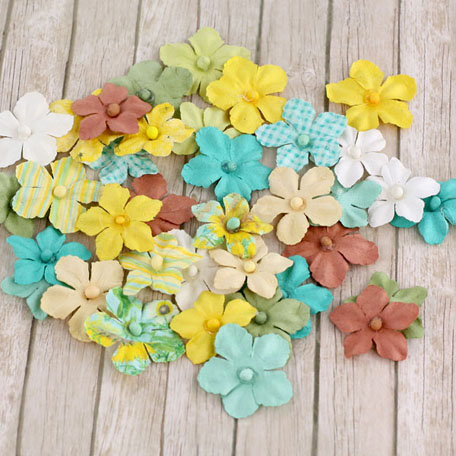 Prima - Camille Collection - Flower Embellishments - Sun Kiss