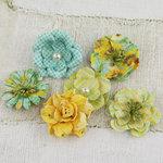 Prima - Vinetta Collection - Flower Embellishments - Sun Kiss