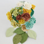 Prima - Charme Rose Collection - Flower Embellishments - Sun Kiss