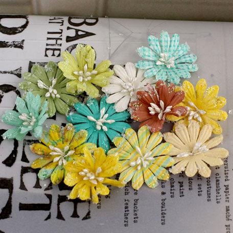 Prima - Lucerne Collection - Flower Embellishments - Sun Kiss