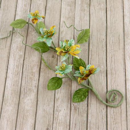 Prima - Gracie Vine Collection - Flower Embellishments - Sun Kiss