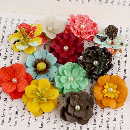 Prima - Perle Bebe Collection - Flower Embellishments - Doodle-Deux