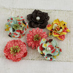 Prima - Vinetta Collection - Flower Embellishments - Doodle-Deux
