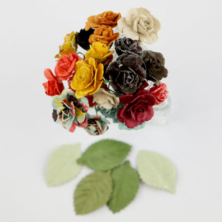 Prima - Charme Rose Collection - Flower Embellishments - Doodle-Deux