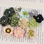 Prima - Perle Bebe Collection - Flower Embellishments - Nature Garden