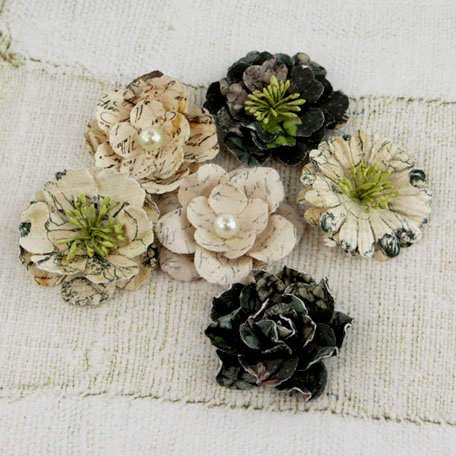 Prima - Vinetta Collection - Flower Embellishments - Nature Garden