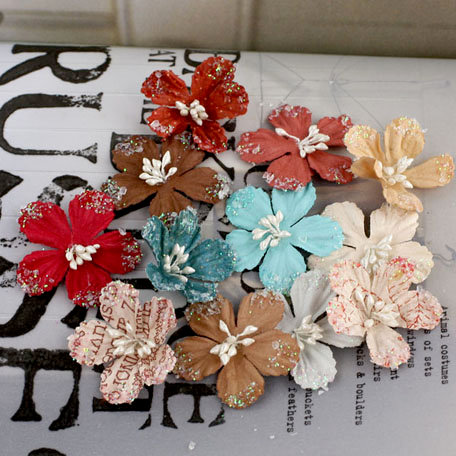 Prima - Lucerne Collection - Flower Embellishments - En Francais