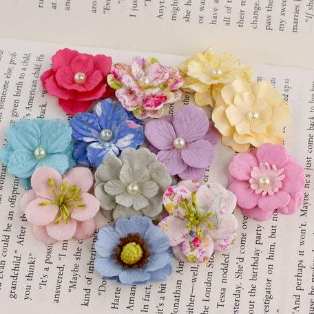 Prima - Perle Bebe Collection - Flower Embellishments - Meadow Lark