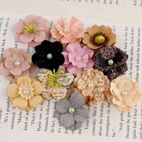 Prima - Perle Bebe Collection - Flower Embellishments - Almanac