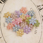 Prima - Velvet Rainbow Collection - Fabric Flower Embellishments - Pastel