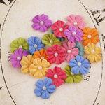 Prima - Velvet Rainbow Collection - Fabric Flower Embellishments - Summer Mix