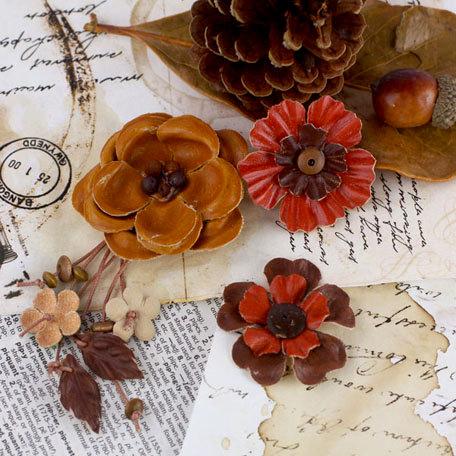 Prima - Laredo Collection - Leather Flower Embellishments - Nuevo