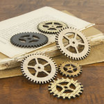 Prima - Wood Embellishments - Gear