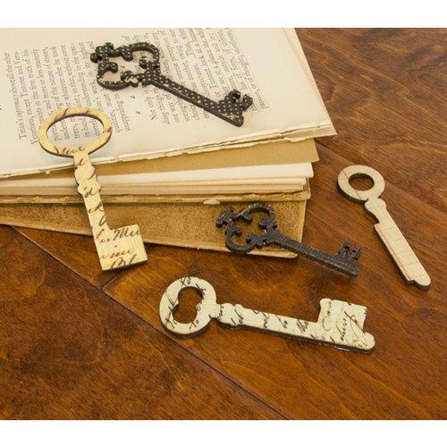 Prima - Wood Embellishments - Key