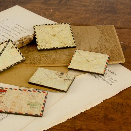 Prima - Wood Embellishments - Envelope