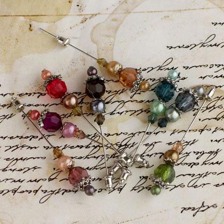 Prima - Petal Stick Pins - Beads