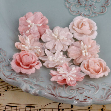 Prima - Miss Godivas Collection - Fabric Flower Embellishments - Blush