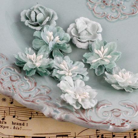Prima - Miss Godivas Collection - Fabric Flower Embellishments - Celadon