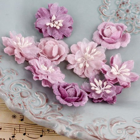 Prima - Miss Godivas Collection - Fabric Flower Embellishments - Lilac