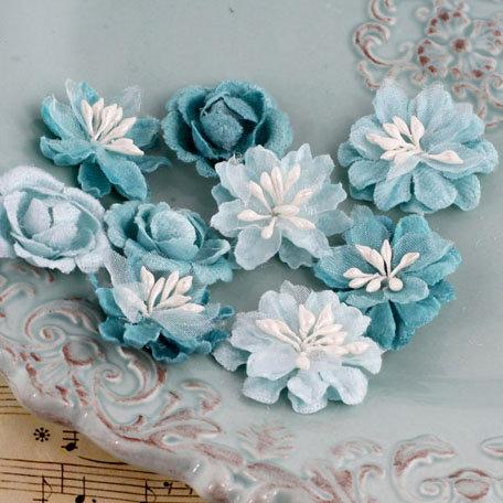 Prima - Miss Godivas Collection - Fabric Flower Embellishments - Mermaid