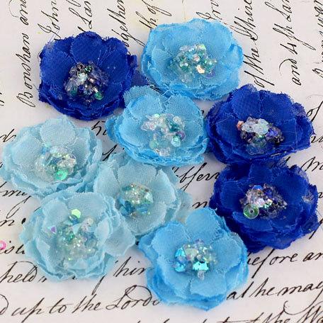 Prima - Tasha Collection - Fabric Flower Embellishments - Jewel